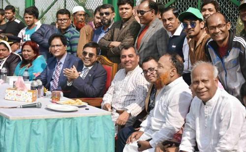 At the Inauguration of Khilgaon Jor Pukur Playground & Park wtih the DSCC Mayor Mohammad Sayeed Khokon, Ward Councilors & Awami League Leaders of Dhaka-9.